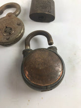 Load image into Gallery viewer, Assorted Lot Of 5 Vintage Padlocks/Locks - No Keys- 5244