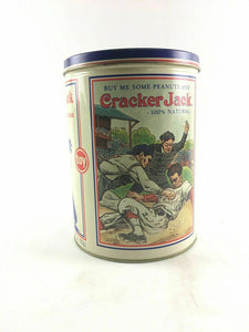 Cracker Jack Popcorn Confection collectors tin can 4691