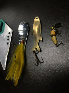 Vintage Fishing Lures Lot Of 5 8044