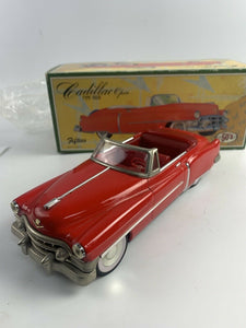 Vintage 50's Fifties Tin Friction Car 1950 Red Cadillac Open Japan RARE- B354