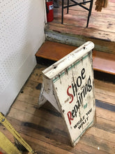 Load image into Gallery viewer, Antique A Frame Sidewalk Shoe Repair Sign- 5095