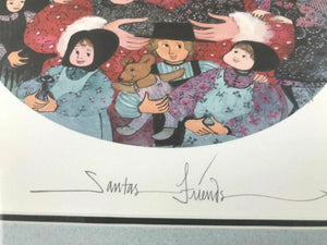"1993 PATRICIA BUCKLEY MOSS LITHOGRAPH ""SANTA'S FRIENDS"" 682/3719 - LOT 3467"