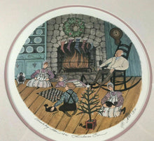 "Load image into Gallery viewer, 1991 PATRICIA BUCKLEY MOSS LITHOGRAPH ""CHRISTMAS EVE"" 5052/5797- LOT 3466"