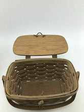 Load image into Gallery viewer, Assorted Lot Of (2) Vintage Longaberger Handwoven Baskets- 3755