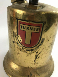Vintage Turner Brass Works Blow Torch Tool w Wooden Handle- 4785