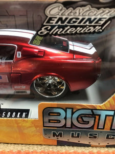 "DIECAST 1:24 SCALE JADA TOYS ""DUB CITY BIGTIME MUSCLE"" 1967 SHELBY GT-500KR-9021"