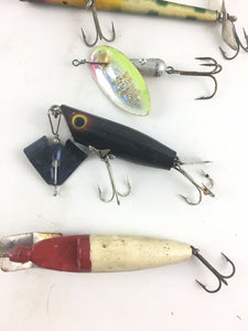 Vintage Fishing Lures Lot Of 5 5573