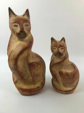 Load image into Gallery viewer, (2) Chalkware Cat Figurines - lot 2939