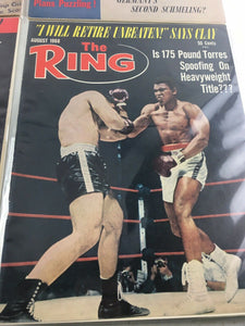 Assorted Lot Of 5 Vintage Boxing Magazines-1948-88 MINT-5513