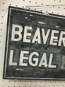 Vintage Local Beaver County Legal Journal Sign 4832