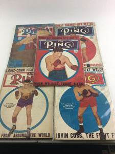 Assorted Lot Of 5 Vintage Boxing Magazines-1944-46 MINT-5545