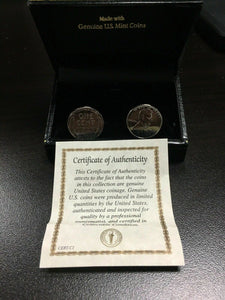 1943 Lincoln Steel Penny Cuff Links -4399