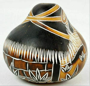 (2) HAND PAINTED GOURDS - lot 2795