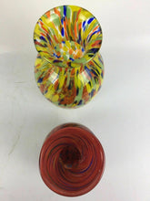 Load image into Gallery viewer, (2) Retro Multi Colored Glass Vases including F&C - lot 1806