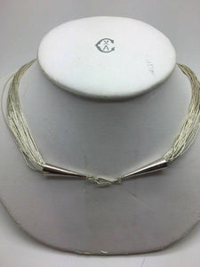 "STERLING SILVER MULTI-STRAND 23"" NECKLACE - LOT 4204R"