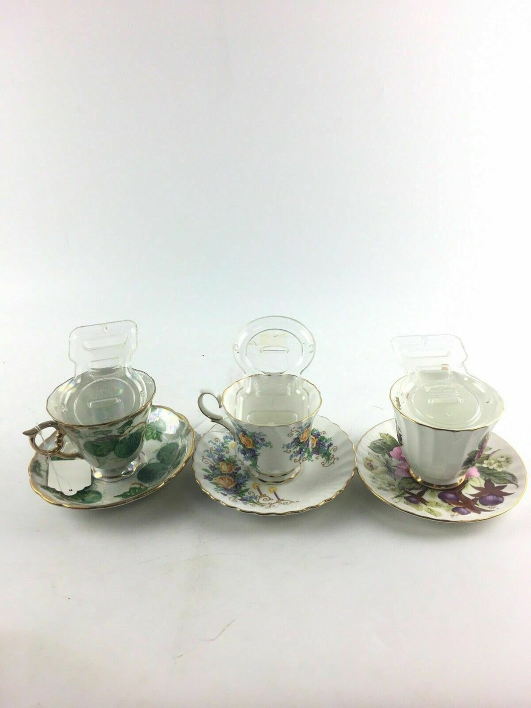 3 Decorative Teacup Sets 4591