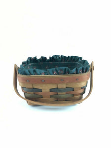 2pc Longaberberger Basket Handwoven Dresden, Ohio 1991 - Lot 4157