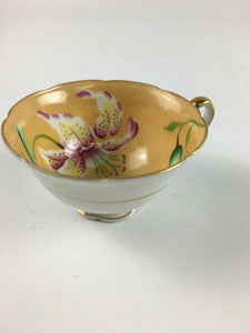 Vintage Hand Painted Meritchina Teacup & Saucer Made In Japan - Lot 4180