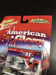 JOHNNY LIGHTNING STREET FREAKS AMERICAN GLORY JEEP CJ5 # 15-3161