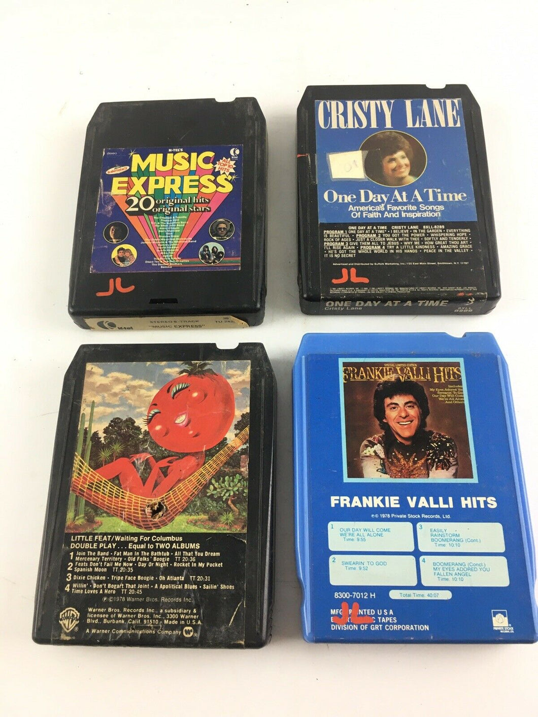 Vintage 8 Track Lot 4 Little Feat,Christy Lane,Music Express,Frankie Valli  5642