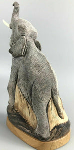 Vintage Elepant Sculpture Made From Buffalo Horn- 1166