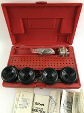 Load image into Gallery viewer, Vintage lot of Erector Set Toys Pocket Gilbert Plus Plastic Case #1398