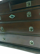 Load image into Gallery viewer, Vintage Machinist Tool Chest Box And Tools Leather Handle 4633