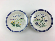 Load image into Gallery viewer, 2pc HB Quimper France Hand Painted Plates - Lot 3370