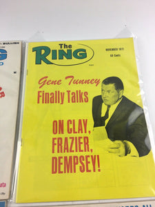 Assorted Lot Of 5 Vintage Boxing Magazines-1971-75 MINT-5496
