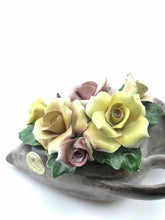 Load image into Gallery viewer, Vintage Capodimonte Porcelian Flowers W/ Vase-  3280