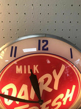 Load image into Gallery viewer, Vintage Double Bubble Pam Clock Milk Dairy Fresh Ice Cream- Mint-working