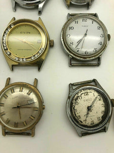 Lot Of 9 Vintage Mechanical MENS Wrist Watch, Chronograph Types And More B23