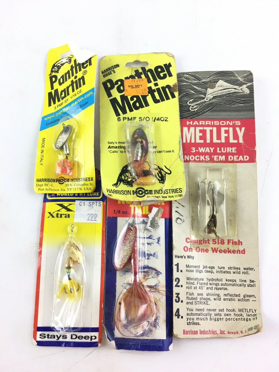 Vintage Fishing Lures Lot Of 5 5571