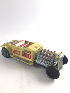 Vintage Tin Litho Bandai Triumph Tr3 Friction Car- 5327