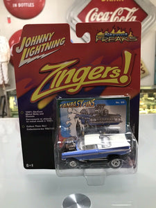 Johnny Lightning Street Freaks Zingers '59 1959 Chevy Impala Blue Die-cast- 8173