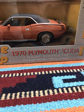 Load image into Gallery viewer, 1970 Plymouth Cuda 440-6 Two-lane Blacktop Ertl American Muscle 1:18-9011