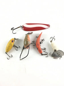 Vintage Fishing Lures Lot Of 5 5440