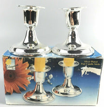 Load image into Gallery viewer, Elegant Living Silver Plated Pair Candle Sticks- 2160