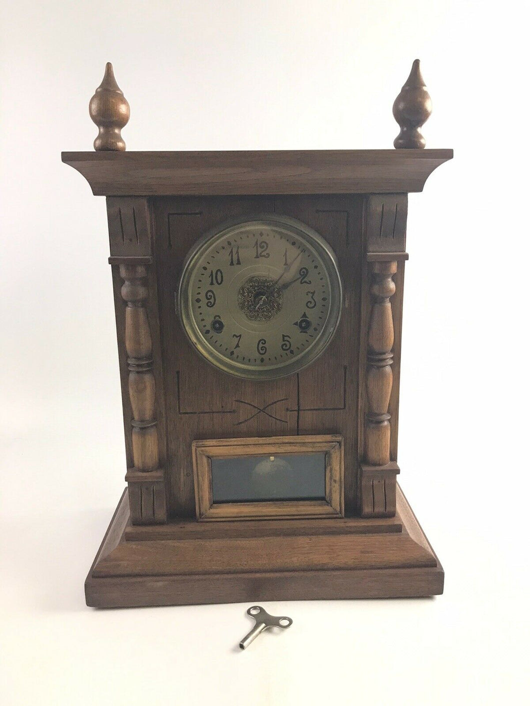 Antique Wooden New Haven Shelf Clock 8 Day- 5315