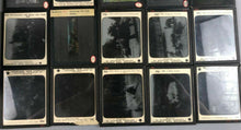 Load image into Gallery viewer, 48 ANTIQUE MAGIC LANTERN GLASS SLIDES IN WOODEN BOX  - lot 3496