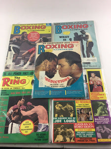 Assorted Lot Of 5 Vintage Boxing Magazines-1972-75 MINT-5498
