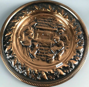 Vintage Mid Century Coppercraft Wall Hanging Plate- 1219