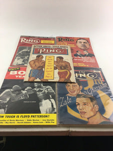 Assorted Lot Of 5 Vintage Boxing Magazines-1948-68 MINT-5555