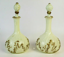 Load image into Gallery viewer, PAIR OF ANTIQUE MILK GLASS DECANTERS - lot 2807
