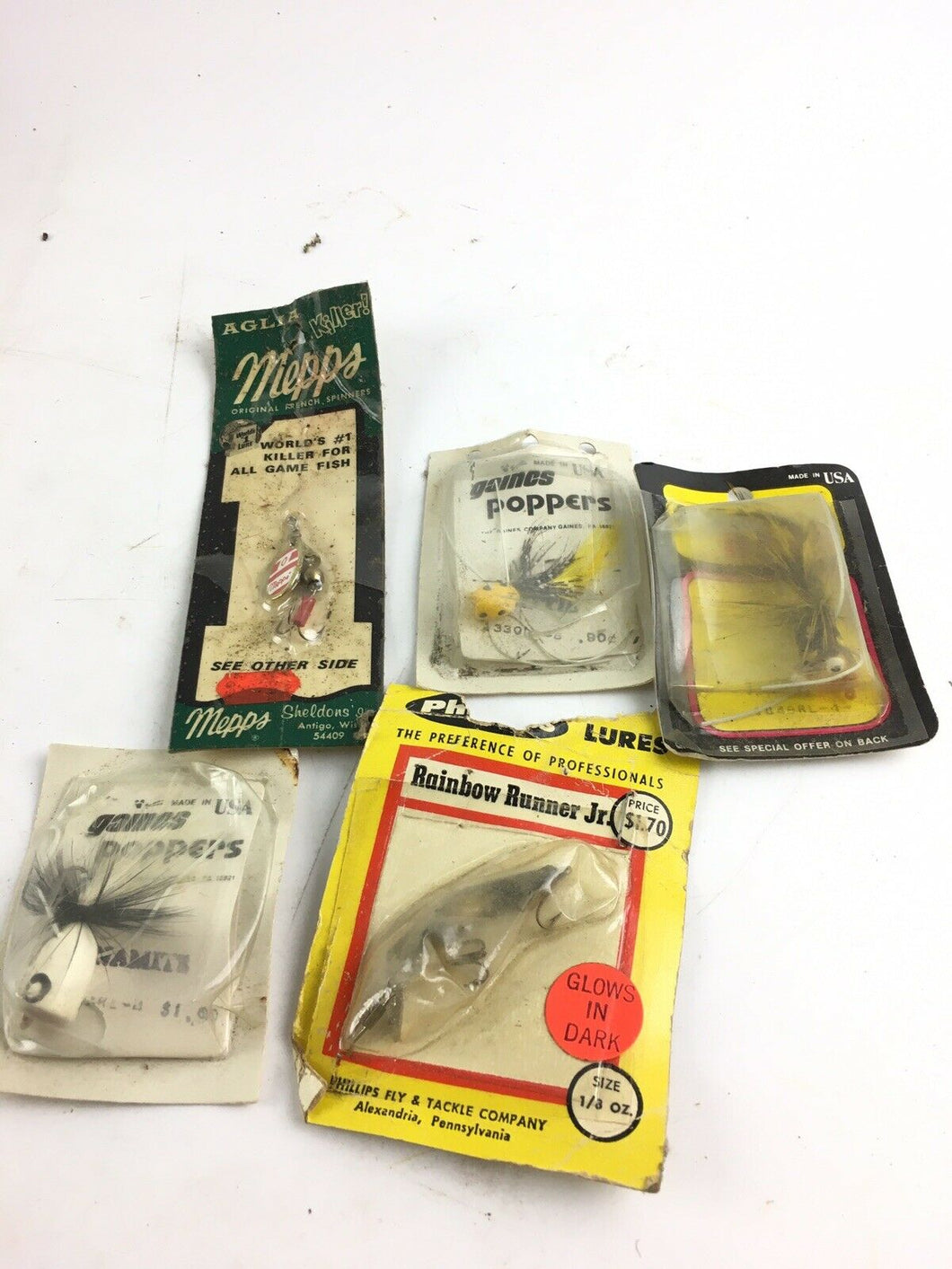 Vintage Fishing Lures Lot Of 5 5014