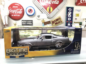 JADA DUB CITY 1967 SHELBY GT 500 SILVER CHROME 1:18 CC Brand New! - 8144