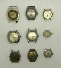 Load image into Gallery viewer, 9 ASSORTED WATCHES FOR PARTS OR REPAIR  - Waltham, Elgin, Oris - LOT 3393