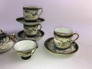 15pc Vintage Pico Miniature Childs Handpainted Dragon Tea Set Made in Japan-1773