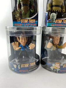 Star Trek Quogs Captain Kirk Spock Gorn Capitan Andorian Funk Bobble Heads 4 NOS