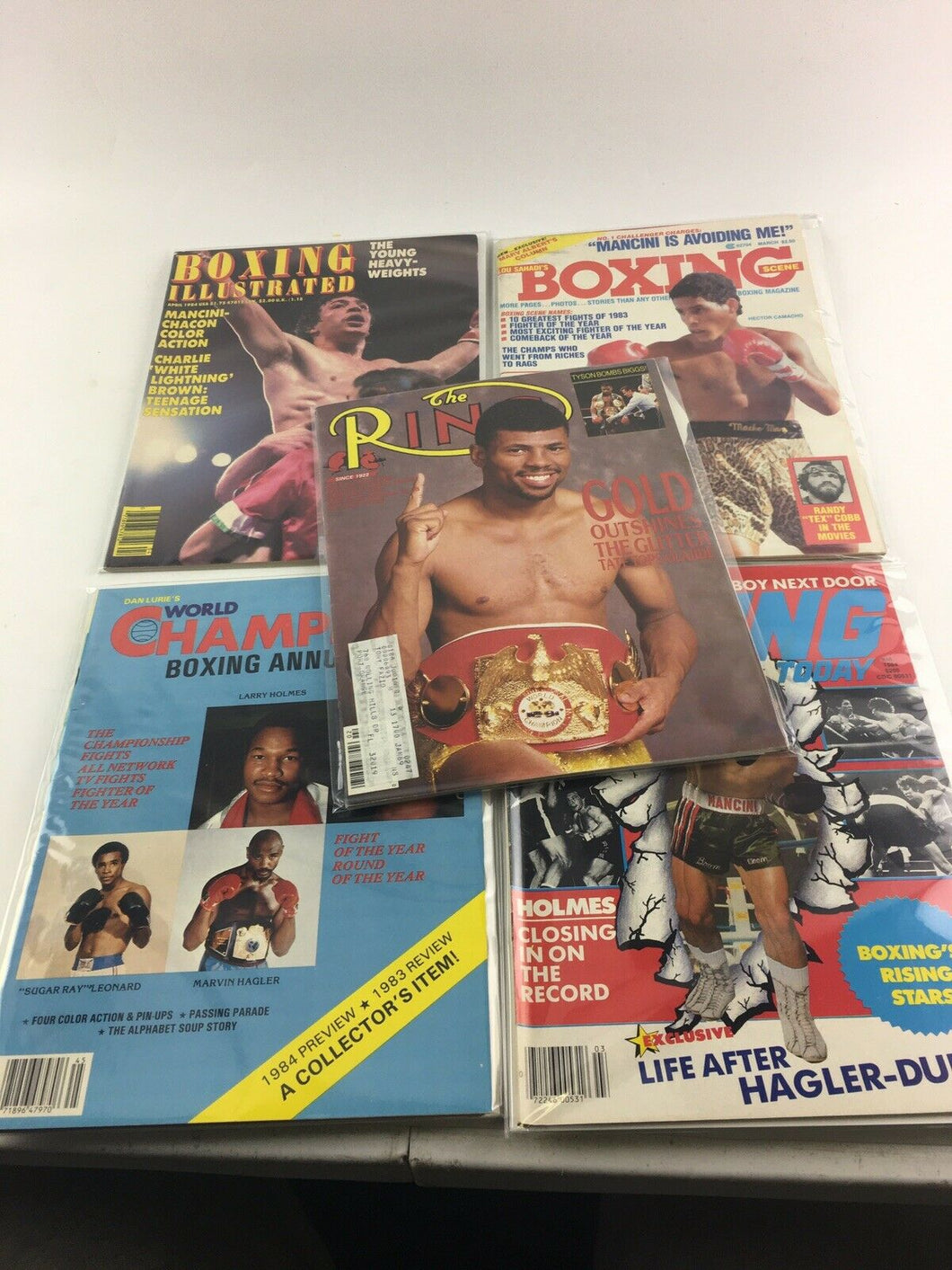 Assorted Lot Of 5 Vintage Boxing Magazines-1984-88MINT-5504